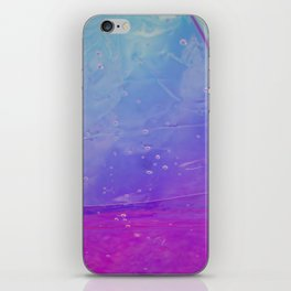 Abstract - blue and pink - iPhone Skin