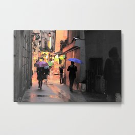 Rainy Days in Paris Metal Print