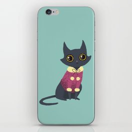 Cozy cat red iPhone Skin