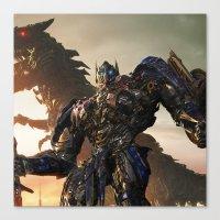 optimus prime Canvas Prints featuring Optimus Prime by Tom Lee