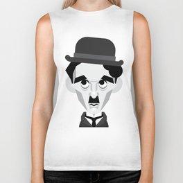 Charlie Chaplin Vector Caricature Biker Tank