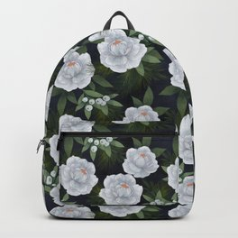 winter rose // repeat pattern Backpack