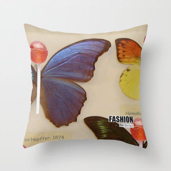 Fashion Fat Girls/2 Throw Pillow
