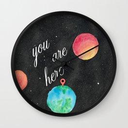 Watercolour Universe Wall Clock