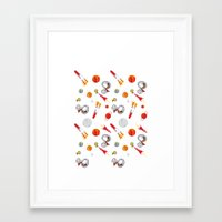 snoopy Framed Art Prints featuring Snoopy Space by Yildiray Atas