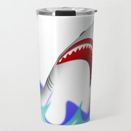 Shark attack wave danger dangerous Travel Mug