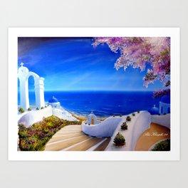 Greece, Greek Island  Art Print