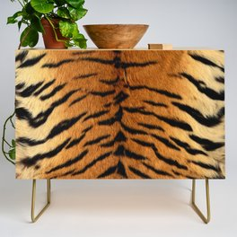 Faux Siberian Tiger Skin Design Credenza