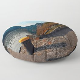 Sunny afternoon at the harbour   landscape photography Floor Pillow
