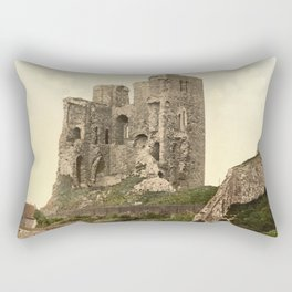 Vintage Photo-Print of Scarborough Castle (1900) Rectangular Pillow