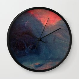 Angry Mountain / Female Figure Wall Clock