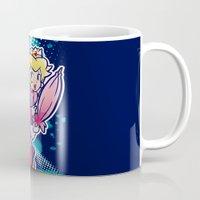 princess peach Mugs featuring Princess Peach by PastaSaladBowl