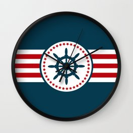 Sailing wheel 2 Wall Clock