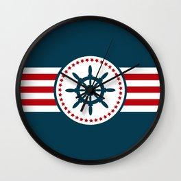 Sailing wheel 2 Wall Clock