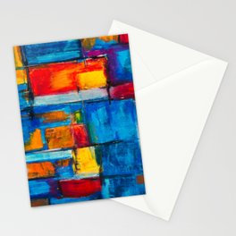 painting abstract Stationery Cards