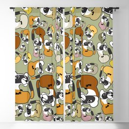 Black Footed Ferret pattern Blackout Curtain