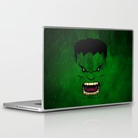 monster inc Laptop & iPad Skins featuring Monster Green by Inara