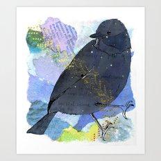 Vinter fugl Art Print