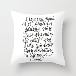 I Love You Much Throw Pillow