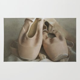 Creamy pointe ballet shoes Rug