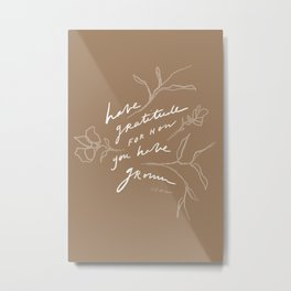 Have Gratitude For How You Have Grown Metal Print