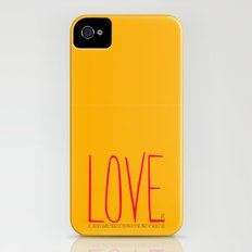 love is  iPhone (4, 4s) Slim Case