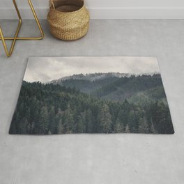Pacific Northwest Forest - Nature Photography Rug