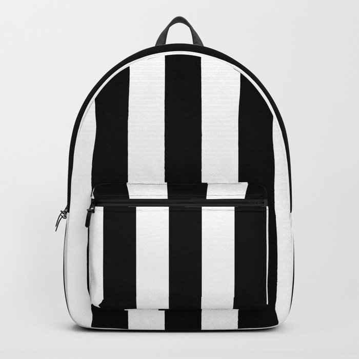 Parisian Black & White Stripes (vertical) Backpack