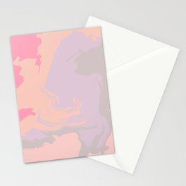 Marble Aesthetic Swirl - Pastel Stationery Cards