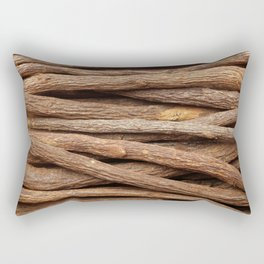 Liquorice root in straight lines Rectangular Pillow