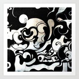 Graffiti Swirl Art Print