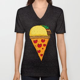 Taco Pizza Cone Unisex V-Neck
