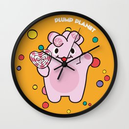 Plump Planet Candy Wall Clock