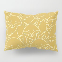 Minimalist Red Fox Pillow Sham