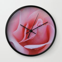 Rose Petal Pink Wall Clock
