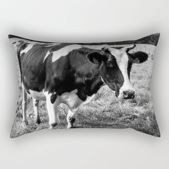 Black and White Cow Rectangular Pillow