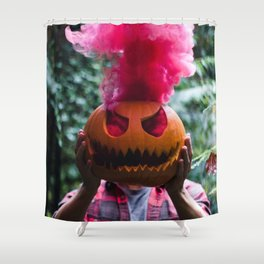 Holiday Hot Head :D Shower Curtain