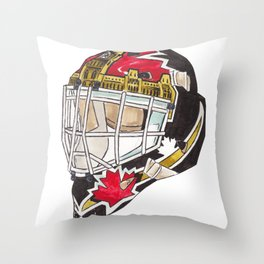 Beaupre - Mask 2 Throw Pillow