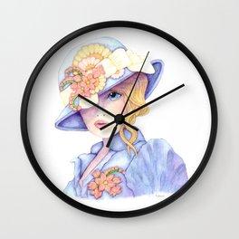 Violet Eyes Wall Clock