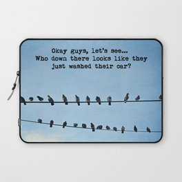 When Pigeons Plan... Laptop Sleeve