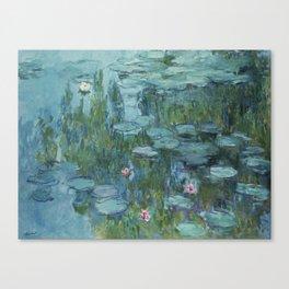 Monet, Water Lilies, Nympheas, Seerosen, 1915 Canvas Print