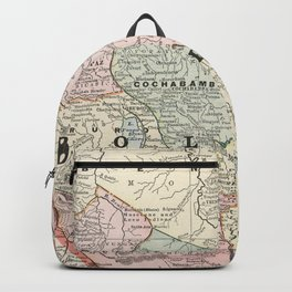 Vintage Map of Bolivia (1901) Backpack