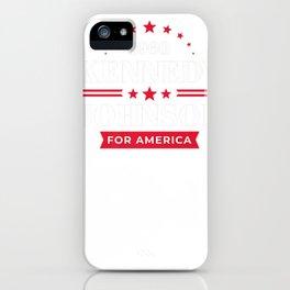 JFK Shirt John F Kennedy Johnson Campaign  Premium T-Shirt iPhone Case