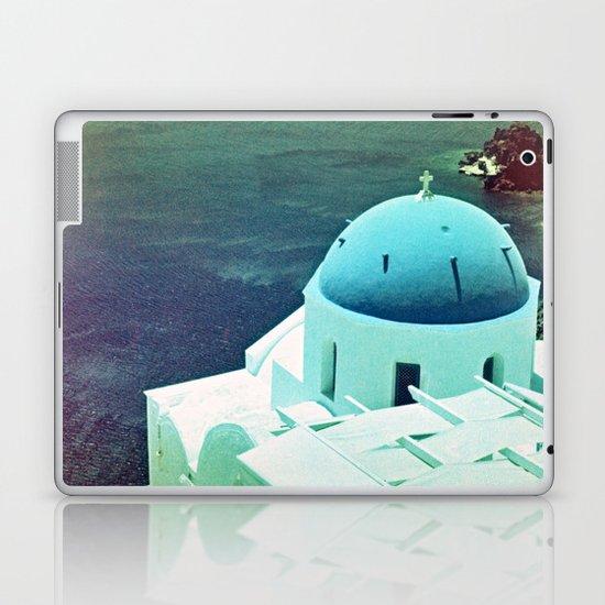 Blue Dome Church, Santorini: Shot with a Nikon FM2 and Revolog 600nm film Laptop & iPad Skin