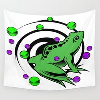 frog Wall Tapestries featuring Frog  by Michael P. Moriarty