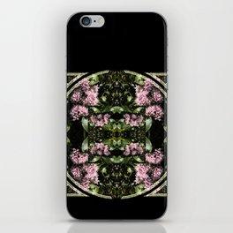 Butterflies and Flowers Mandala iPhone Skin