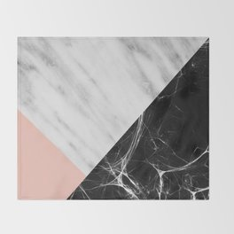 Marble Collage Throw Blanket