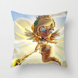 Heroes never die Throw Pillow
