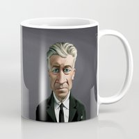 lynch Mugs featuring Celebrity Sunday ~ David Lynch by rob art | illustration
