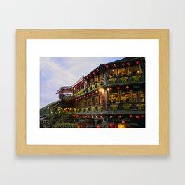 Taiwan Jiufen sprinted away Framed Art Print